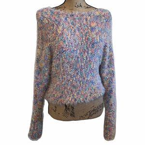 Love Riche Multicolored Oversized Fuzzy Sweater